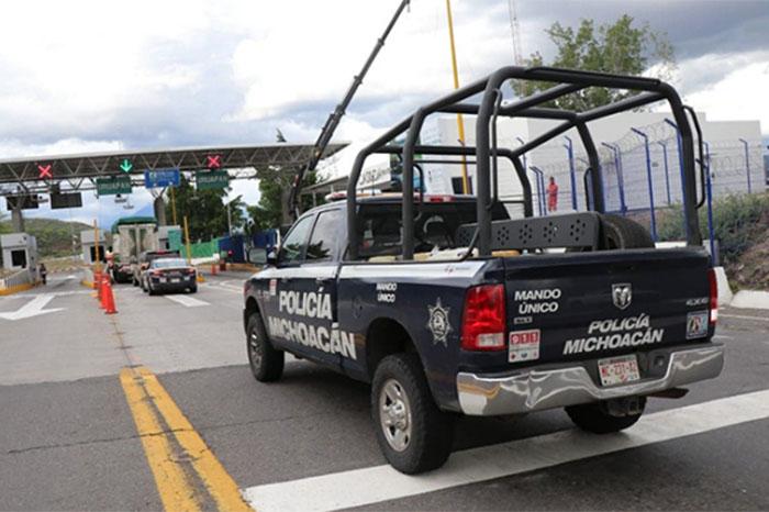 policia michoacan logos deben retirar