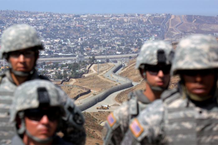 soldados llegan a frontera de eua