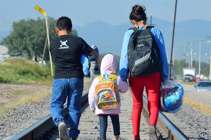 caravana migrantes menores