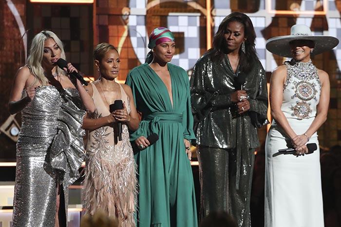 Lady Gaga,Jada Pinkett Smith,Alicia Keys,Michelle Obama,Jennifer Lopez