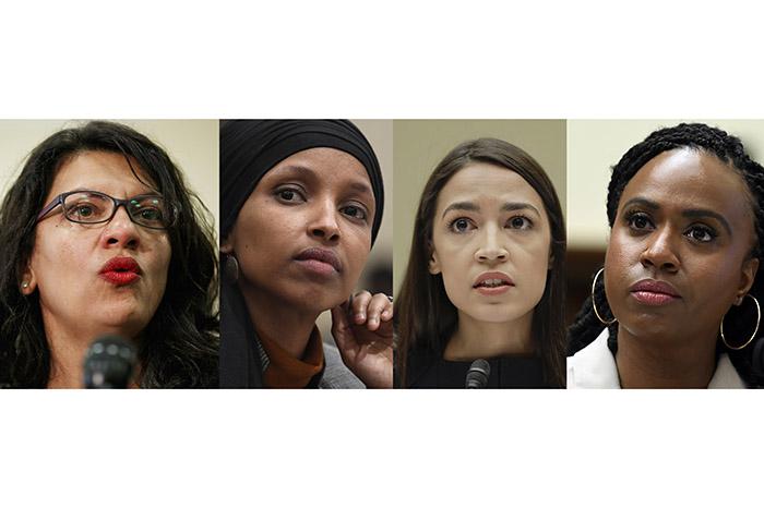 Rashida Tlaib,Ilhan Omar,Alexandria Ocasio-Cortez,Ayanna Pressley