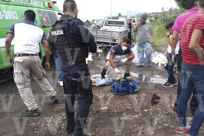 ZAMORA Niño queda herido al ser atropellado en el Libramiento Norte de Zamora