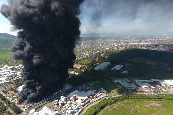 incendio ciudad industrial